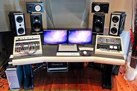 image of recording studio desk ideas