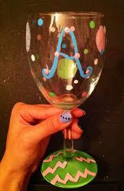Diy wine glass painting