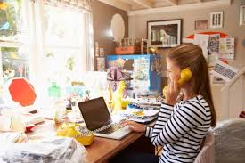 tracy model home office. a decluttering session should help boost productivity tracy model home office y