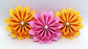 Flower Paper Craft Diy Paper Flowers Easy Making Tutorial Origami Flower Paper Crafts Ideas
