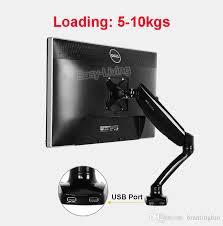 loctek dlb502 h gas spring full motion desktop 10 27 lcd monitor holder led computer monitor mount arm with 2 usb port loading 5 10kgs monitor holder loctek