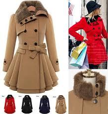 2019 2017hot fashion women s trench coats lady fur collar peacoat winter woolen coat autumn jackets for women outwear plus size xs 4xl from