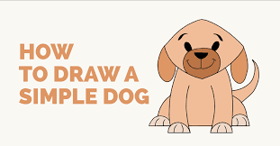 easy dog drawing tutorial.  Drawing How To Draw Simple Dog Featured Image Throughout Easy Dog Drawing Tutorial H