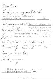 Guide To Writing Thank You Notes W/ Cheat Sheet - Celebrations At Home