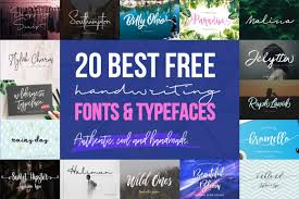 Best Handwritten Fonts For Designers 20 Best Free Cool Handwriting Fonts For 2018 Creativebooster