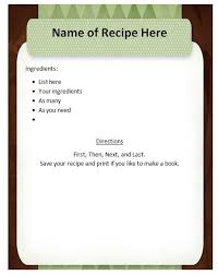 recipe template free free downloadable recipe template baby costcutters