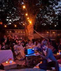 Domestic Fashionista Backyard Birthday And Movie NightMovie Backyard