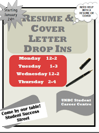 Resume & Cover Letter Drop-Ins | University Of Northern British Columbia