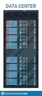Data Rack Design Creative Vector Illustration Of Server Rack Room Big Data