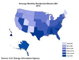 EIA conducts an annual survey of the electric power industry. Results from  the survey are used to estimate the average residential monthly electric  bill ...