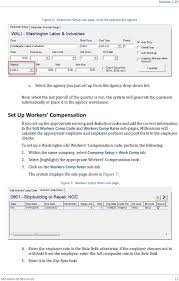 set up workers compensation if you set up the appropriate earning and deduction codes and add