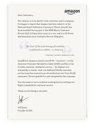 Letter For Customer Service Letter From Jeff Bezos Dear Customers Our Mission Is To B