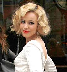 actresses rachel mcadams above and miley cyrus both take on the look