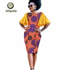 African Wear Designs Images Us 36 46 20 Off 2019 African Dresses For Women Afripride Dashiki Colorful Clothing Curtains Dress Designs Dolls Purple Prints Patterns S1925015 In