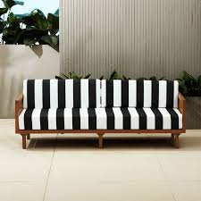 tropez black and white stripe sofa