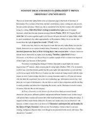 feminist ideas in oroonoko or the royal slave and nowadays  feminist ideas in oroonoko or the royal slave and nowadays essay