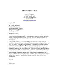 Cover Letter Sample For Human Resources Job Tomyumtumweb Com