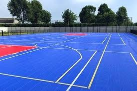 basketball court tiles outdoor tiled used