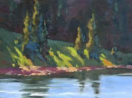sun streaked plein air oil painting by sharon lynn williams