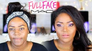 m a c makeup tutorial on black women one brand tutorial on dark brown skin woc you