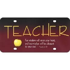 Christian Auto Tag Teacher W Proverbs 2 10 Scripture