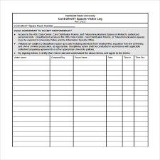 Visitors Log In Sheet Visitor Log Template Under Fontanacountryinn Com