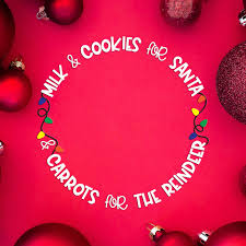 These are the perfect addition to your christmas eve ritual of leaving a drink and a treat out for. Freebie Friday Santa Cookie Plate Svg Cut File Kelly Lollar Designs