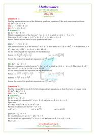 ncert solutions for class 10 maths chapter 4 exercise 4 4