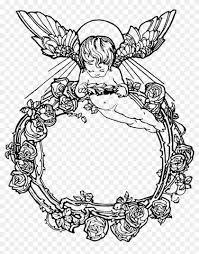 i have included several black versions of this design angel frame vintage freefont 1040662