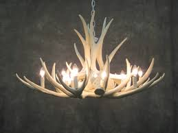 one other image of white deer antler chandelier