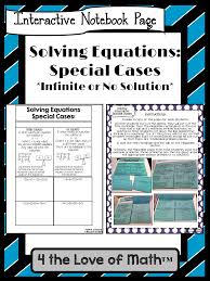 solving multi step equations special cases foldable page