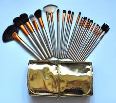 urban decay makeup brushes 24 piece professional brush sets 3 gold package