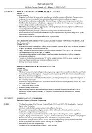 Electrical Engineer Resume Examples Electrical Control Engineer Resume Samples Velvet Jobs 11