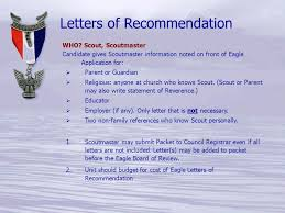 eagle scout candidate letter of recommendation the life to eagle process ppt download