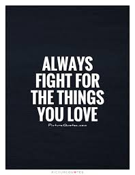 Fight For What You Love Quotes Unique Always Fight For The Things You Love Picture Quotes