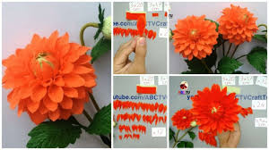 Dahlia Flower Making With Paper How To Make Dahlia Paper Flower From Crepe Paper Simple