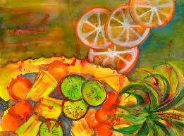 kitchen paintingsAbstract Food Kitchen Art Painting by Blenda Studio