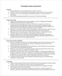 40 Summary For Resume Samples Sample Templates Cool Resume Summaries