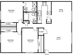 3 Bedroom 2 Bath House Plans Interesting Decoration