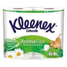 Туалетная бумага 3-х сл. аромат. Ромашка 4шт, <b>KLEENEX</b> ...