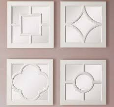 square mirrors decorative wall mirrors white wood framed mirror