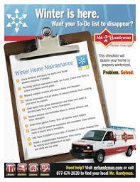 Household Maintenance List Home Maintenance Checklist For Winter