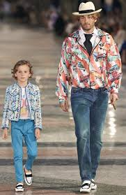 chanel kids. the classic chanel jacket on kids (!) and a cigar cadillacs
