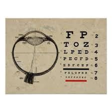 Dr Office Eye Chart Optometry Poster Ophthalmologist Eye Chart Zazzle Com