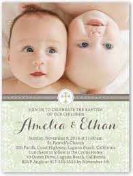 Twin Baptism Invitations Baptism Invitations Twins Custom Twins Ba Girls Baptism Invitation