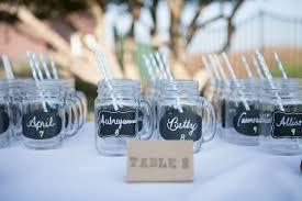 Mason Jar Table Numbers Rustic Wedding Seating Chart