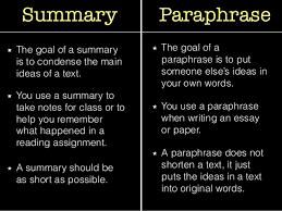 paraphrasing plagiarism 11 summary paraphrase