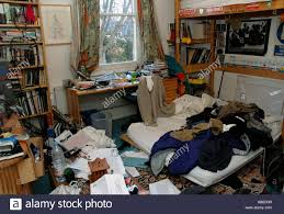 Extremely Messy Room Of A Teenage.   Stock Image