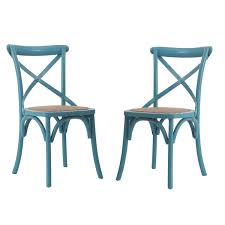 vintage style chairs. Fine Vintage Light Blue Elm Wood Rattan Vintagestyle Dining Chairs Set Of 2 On Vintage Style R