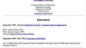 This Is Billionaire Sergey Brin's First Résumé Dated 40 Years Impressive First Resume